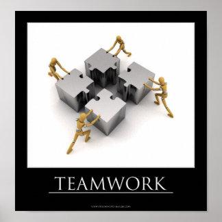 Poster de motivación del trabajo en equipo