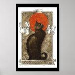 Poster de Nouveau del arte del gato negro/de la ch