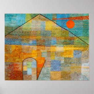 Poster de Parnassum del anuncio de Paul Klee