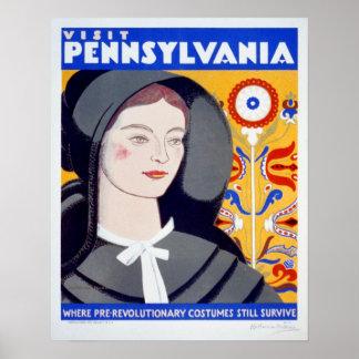 Poster de Pennsylvania de la visita del viaje del Póster