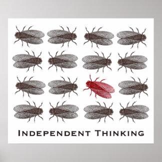 Poster de pensamiento independiente para una ofici póster