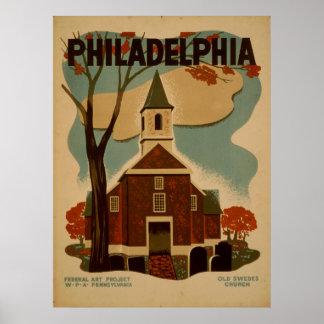 Poster de Philadelphia del vintage Póster