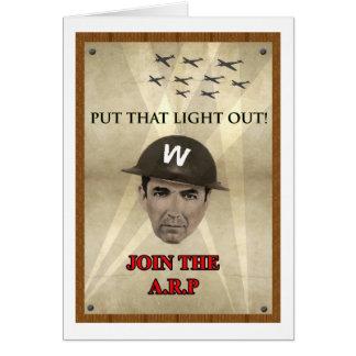 Poster de reclutamiento de WW2 ARP Tarjeta