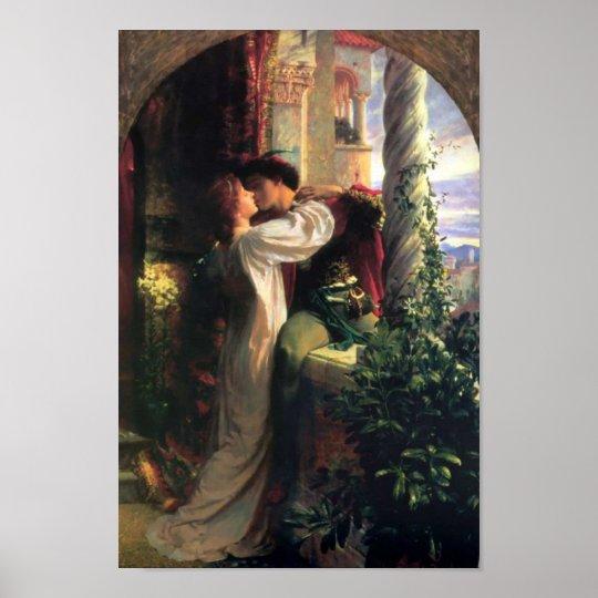 Poster de sir Frank Dicksee, de Romeo y de Juliet Póster
