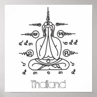 Poster de TAILANDIA Buda Póster
