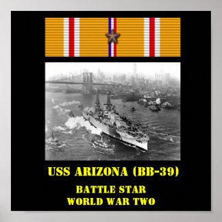 POSTER DE USS ARIZONA (BB-39)