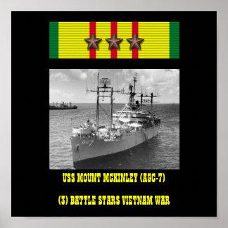 POSTER DE USS EL MONTE MCKINLEY (AGC-7)