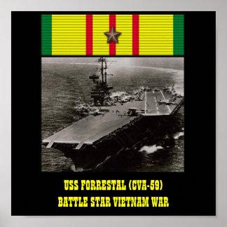 POSTER DE USS FORRESTAL (CVA-59)