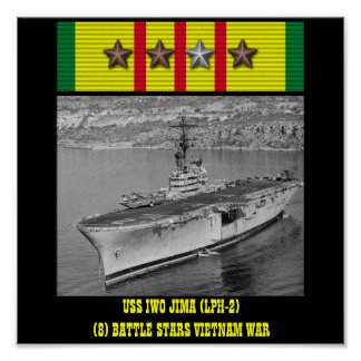 POSTER DE USS IWO JIMA (LPH-2)