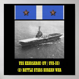 POSTER DE USS KEARSARGE (CV/CVA-33)
