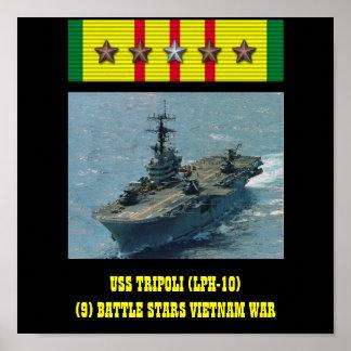 POSTER DE USS TRIPOLI (LPH-10)