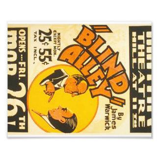 """Poster de WPA del """"callejón ciego"""" de las artes Impresión Fotográfica"""