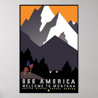 """Poster de WPA Montana del vintage "" Póster"
