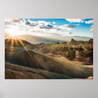 Póster Death Valley el condado de Inyo California