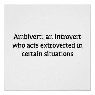 Póster Definición de Ambivert
