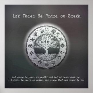 Póster Dejado haya paz en la tierra