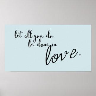 Póster Deje todos lo que le hacen en cita del amor