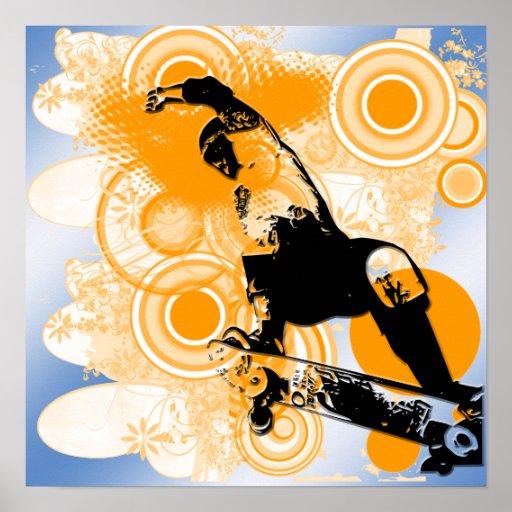 Poster del aire que anda en monopatín