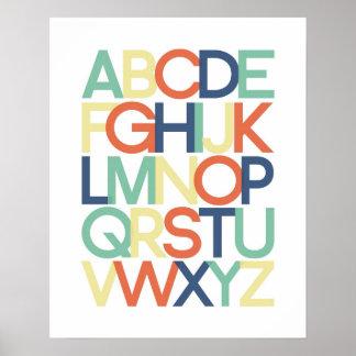 Poster del alfabeto póster