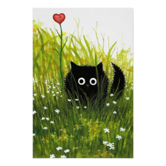 Poster del amor del gato negro por Bihrle