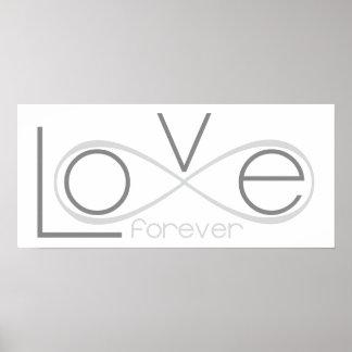 Póster Del amor poster simple del infinito para siempre