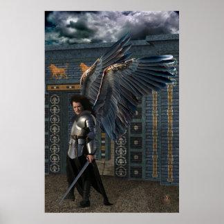 Poster del ángel del guerrero