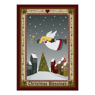 Poster del ángel del navidad póster