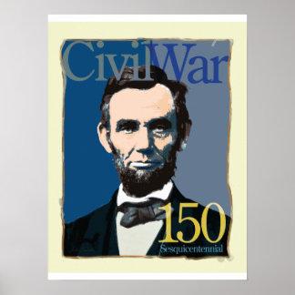 Poster del aniversario de la guerra civil de Abrah Póster