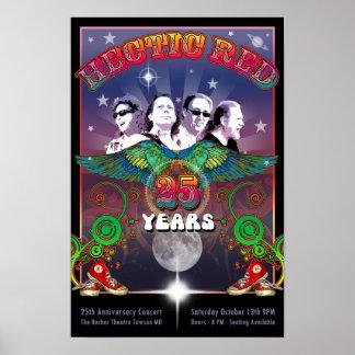 Poster del aniversario de la hora 25ta con la póster