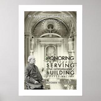 Poster del aniversario de la iglesia católica del