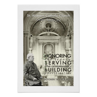 Poster del aniversario de la iglesia católica del  póster