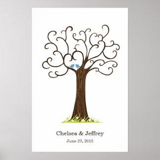 Poster del árbol de la huella dactilar (Heartastic Póster