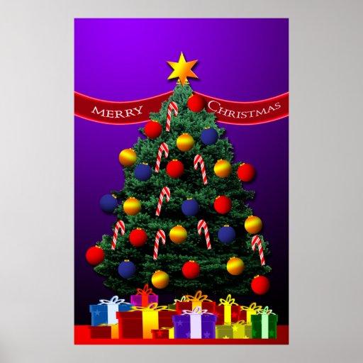 Poster del rbol de navidad para su pared zazzle - Posters para pared ...