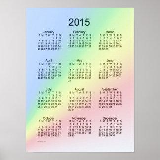 Poster del arco iris de 2015 calendarios