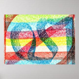 Poster del arco iris de los colores primarios