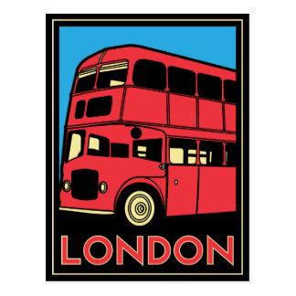 Poster del art déco de Londres Postal