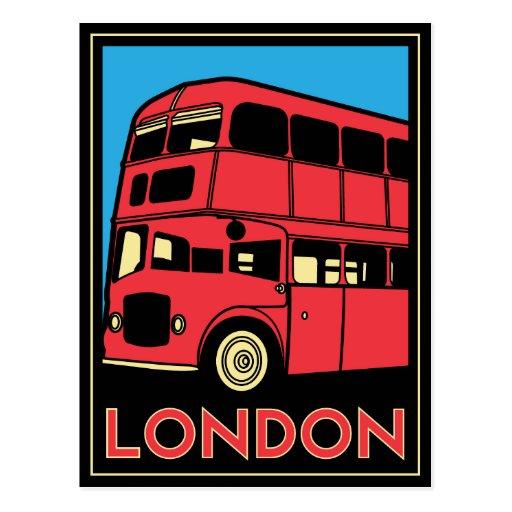 Poster del art déco de Londres Tarjeta Postal