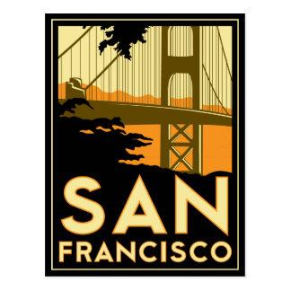 Poster del art déco de San Francisco Postal