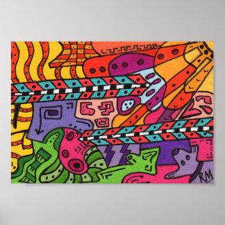 Poster del arte abstracto del terreno #37 del