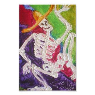Poster del arte de Dia De Los Muertos Skeleton Hal Fotografías