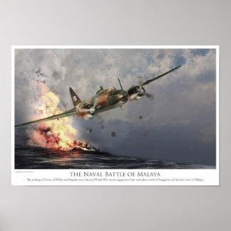 """Poster del arte de la aviación """"la batalla naval d"""