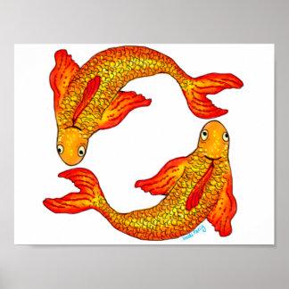 Poster del arte de la muestra del zodiaco de los