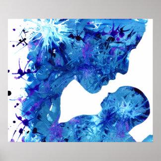 Poster del arte de las tintas del acrílico de la