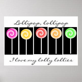 Poster del arte del Lollipop