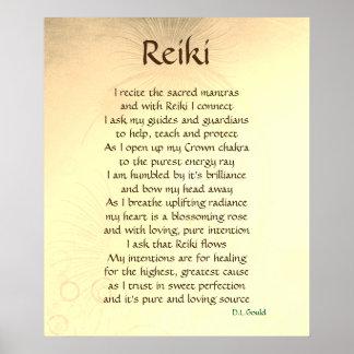 """Poster del arte del poema de """"Reiki"""""""
