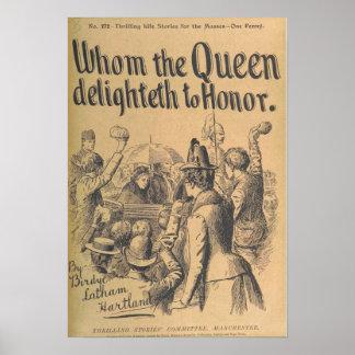 """Poster del arte del vintage """"quién la reina"""