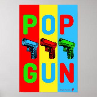 Poster del arte pop del arma del estallido