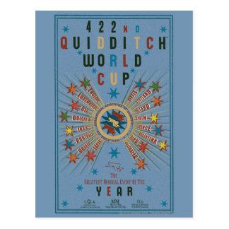 Poster del azul del mundial de Quidditch Postal