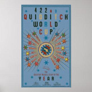 Poster del azul del mundial de Quidditch Póster