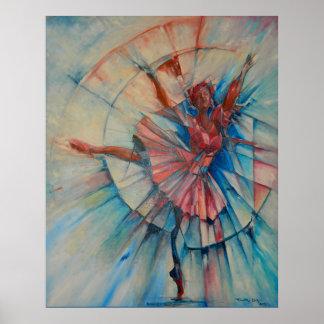 Poster del bailarín de ballet del En Pointe- de la